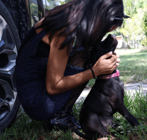 Ashley Murray of The Terrio Group visits Nala's New Life Rescue.